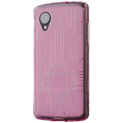 Nexus 5 Case, Cruzerlite Bugdroid Circuit TPU Case Compatible for Nexus 5 - Pink