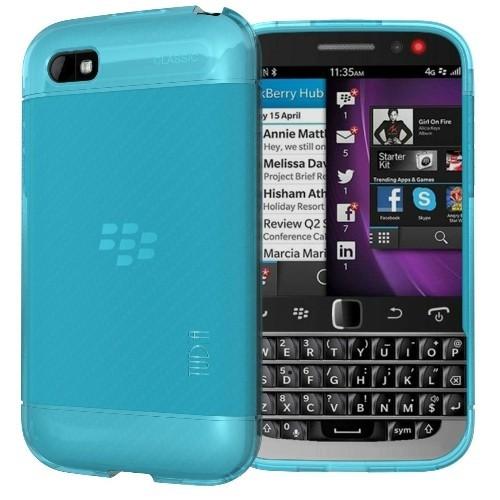 TUDIA Ultra Slim LITE TPU Bumper Protective Case for BlackBerry Classic Smartphone (2014 Released) (Teal)