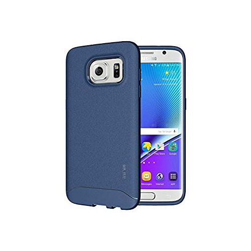 TUDIA Ultra Slim Full-Matte ARCH TPU Bumper Protective Case for Samsung Galaxy S7 Edge (Blue)