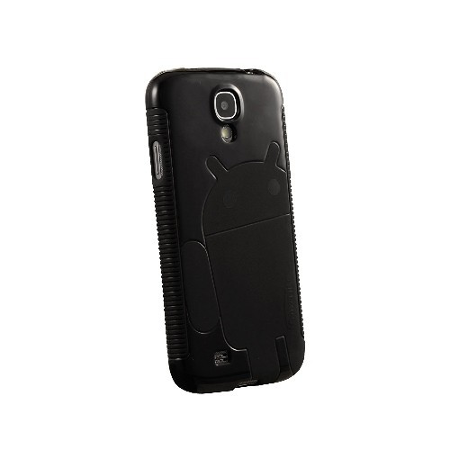 Galaxy S4 Case, Cruzerlite Androidified A2 TPU Case Compatible for Samsung Galaxy S4 - Black