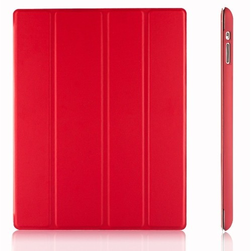 iPad Case, JETech iPad 2 / 3 / 4 Slim-Fit Folio Smart Case Cover with Back Case (Red) - 0216
