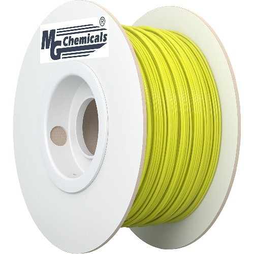 MG Chemicals PLA 3D Printer Filament, 1.75 mm, 0.5 kg, Yellow (IMPROVED)