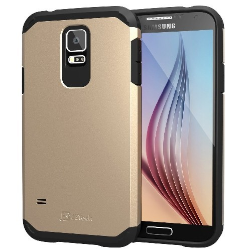 Galaxy S5 Case, JETech Super Protective Samsung Galaxy S5 Case Slim Ultra Fit for Galaxy S5 (Gold) - 3012