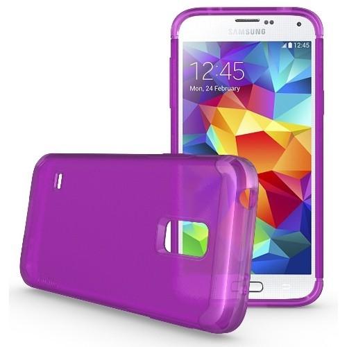 TUDIA Ultra Slim LITE TPU Bumper Protective Case for Samsung Galaxy S5 Mini ** For S5 Mini Version ONLY ** (Purple)