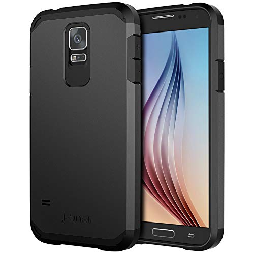 Galaxy S5 Case, JETech Super Protective Samsung Galaxy S5 Case Slim Ultra Fit for Galaxy S5 (Black) - 3010