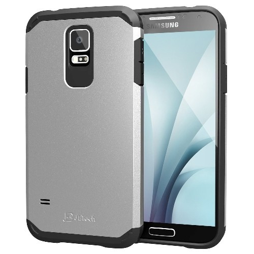 Galaxy S5 Case, JETech Super Protective Samsung Galaxy S5 Case Slim Ultra Fit for Galaxy S5 (Silver) - 3011