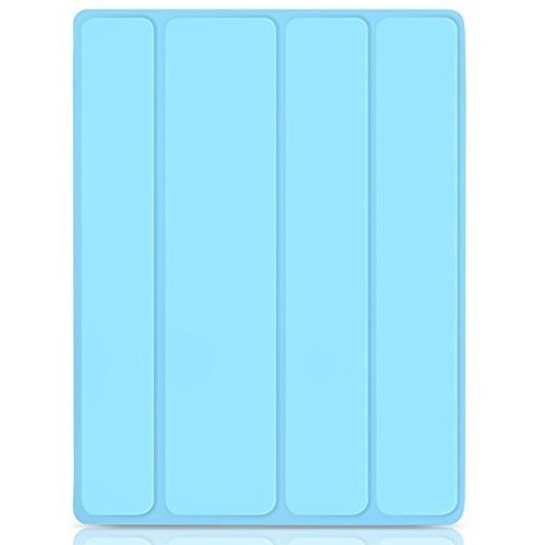 iPad Case, JETech iPad 2 / 3 / 4 Slim-Fit Folio Smart Case Cover with Back Case (Blue) - 0213