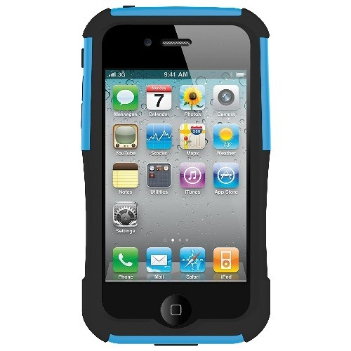 Trident Case Aegis Case for Apple iPhone 4, AT and T and Verizon, Blue, 1-Pack, Retail Packaging, Blue