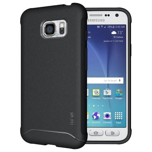 TUDIA Ultra Slim Full-Matte ARCH TPU Bumper Protective Case for Samsung Galaxy S7 Active (Black)