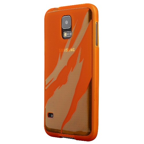 Galaxy S5 Case, Cruzerlite Flame TPU Case Compatible with Samsung Galaxy S5 - Orange