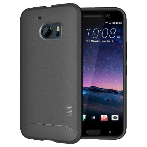 TUDIA Ultra Slim Full-Matte ARCH TPU Bumper Protective Case for HTC 10 (HTC One M10) (Gray)