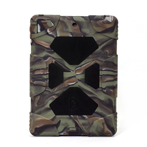 ACEGUARDER? Apple Ipad 5 Air Case Rainproof Shockproof Silicone plastic waterproof ipad 5 case [Army/Black]]