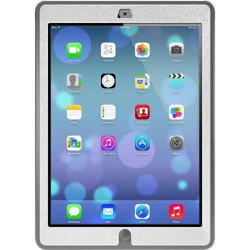 OtterBox Defender Series Case for iPad Air - Frustration-Free Packaging - Glacier - White/Grey