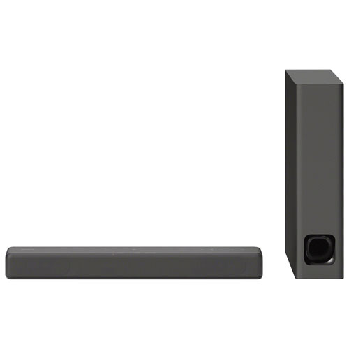 Sony HTMT300 100-Watt 2.1 Channel Bluetooth Sound Bar with Wireless Subwoofer - Black