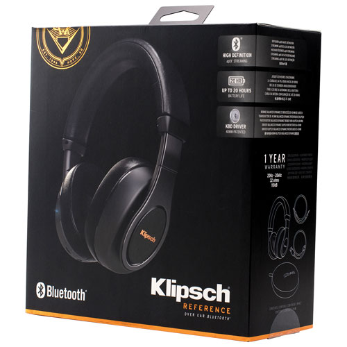 klipsch over ear headphones. klipsch reference over-ear sound isolating bluetooth headphones with mic - black : best buy canada over ear
