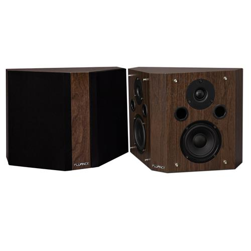 Fluance SXBPW High Definition Bipolar Surround Sound Wide Dispersion Speakers for Home Theater