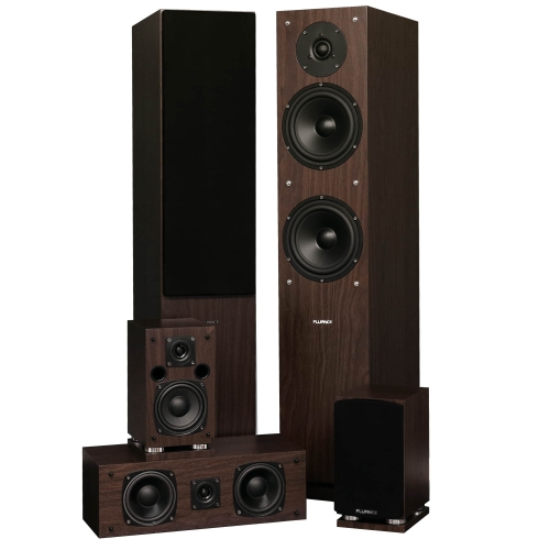 sound system best buy. fluance sxhtbw 5 speaker surround sound home theater system - natural walnut best buy
