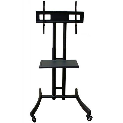 Rocelco BSTC Basic Flat Panel TV Cart 32-Inch-61-Inch, Includes Component Shelf (Black)