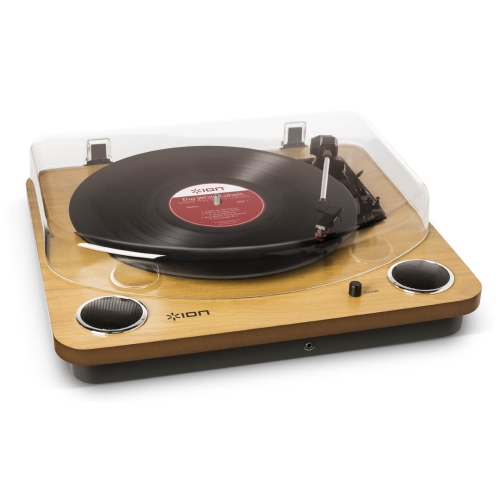 Ion Max LP Conversion Turntable w/ Stereo Speakers - Wood