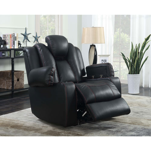 Starship Leather Power Recliner Chair - Black