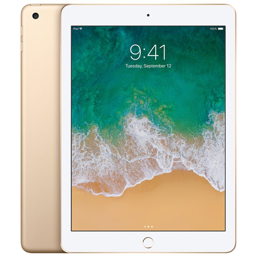 "Apple iPad 9.7"" 128GB with Wi-Fi - Gold"