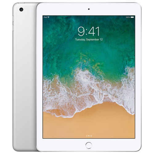 """Apple iPad 9.7"""" 128GB with Wi-Fi/4G LTE - Silver"""