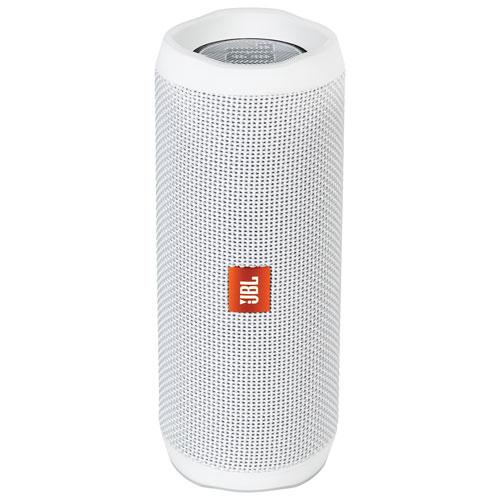 JBL Flip 4 Waterproof Bluetooth Wireless Speaker - White