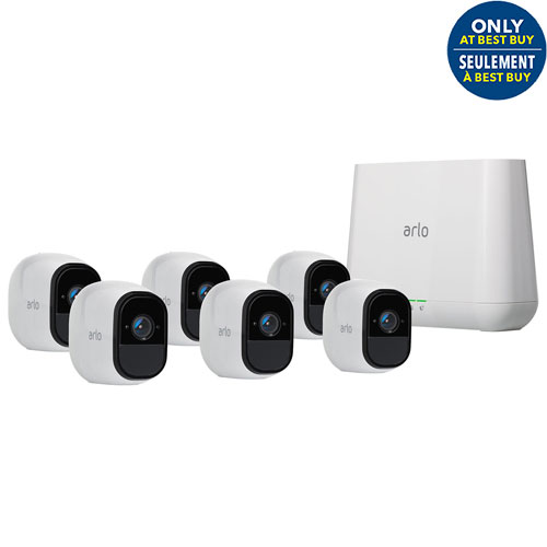 Arlo Pro Wireless Security System with 6 HD Cameras - White