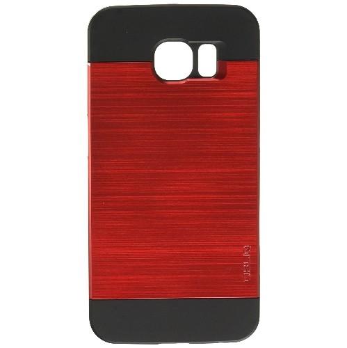Galaxy S6 Case, OBLIQ [Slim Meta][Metallic Red] Thin Bumper Fit Armor Scratch Resist Metallic Finish Dual Layered Heavy Duty H