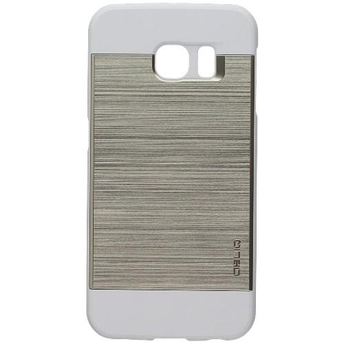 Galaxy S6 Edge Case, OBLIQ [Slim Meta][White/Gold] Thin Bumper Fit Armor Scratch Resist Metallic Finish Dual Layered Heavy Dut