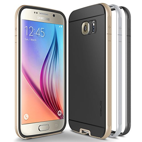 Galaxy S6 Case, Obliq [Dual Poly Bumper] [Gold,Silver,and Black] Thin Slim Fit Bumper Armor Scratch Resist Metallic Finish Dua