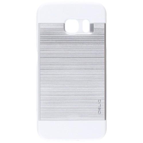 Galaxy S6 Edge Case, OBLIQ [Slim Meta][Satin Silver] Thin Bumper Fit Armor Scratch Resist Metallic Finish Dual Layered Heavy D