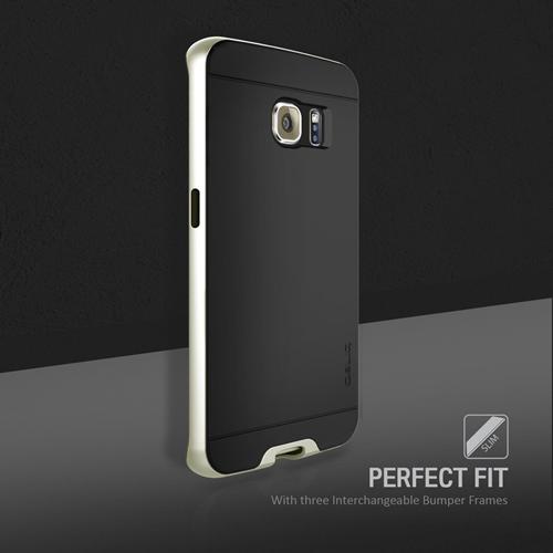 Galaxy S6 Edge Case, Obliq [Dual Poly Bumper] [Gold,Silver,and Black] Thin Slim Fit Bumper Armor Scratch Resist Polycarbonate