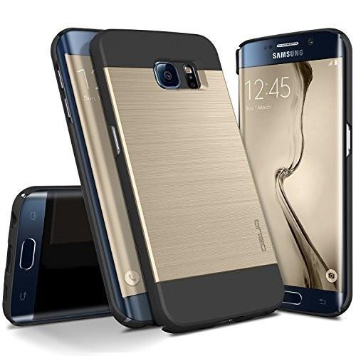 Galaxy S6 Edge Case, OBLIQ [Slim Meta][Gold Platinum] Thin Slim Fit Scratch Resist Metallic Polycarbonate Finish Dual Layered