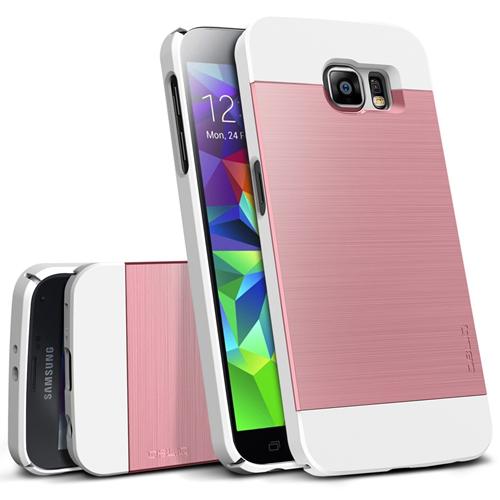 Galaxy S6 Case, OBLIQ [Slim Meta][Metallic Pink] Thin Bumper Fit Armor Scratch Resist Metallic Finish Dual Layered Heavy Duty