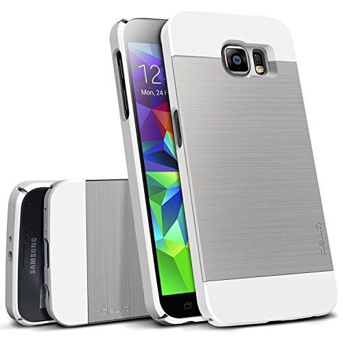 Galaxy S6 Case, OBLIQ [Slim Meta][Satin Silver] Thin Bumper Fit Armor Scratch Resist Metallic Finish Dual Layered Heavy Duty H