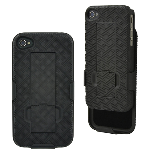 iPhone 4S / 4 Case, Aduro? COMBO Shell & Holster Case [Lifetime Warranty] Super Slim Shell Case w/ Built-In Kickstand + Swive