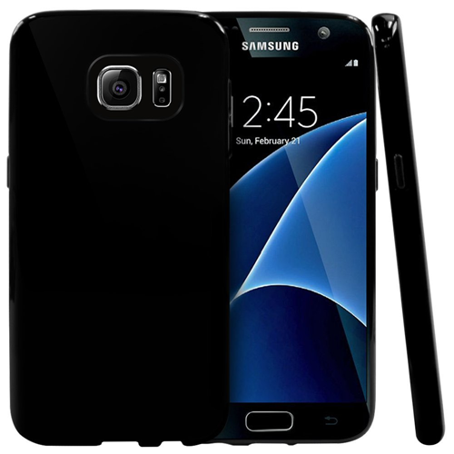 Galaxy S7 Case, REDShield? [Black] Slim & Flexible Anti-shock Crystal Silicone Protective TPU Gel Skin Case Cover for Samsung