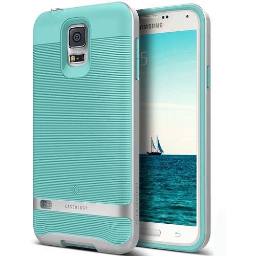 Galaxy S5 Case, Caseology [Wavelength Series] Textured Pattern Grip Cover [Turquoise Mint] [Shock Proof] for Samsung Galaxy