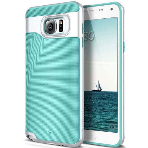 Galaxy Note 5 Case, Caseology® [Wavelength Series] Textured Pattern Grip Cover [Turquoise Mint] [Shock Proof] for Samsung Gal