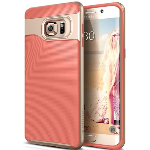 Galaxy S6 Edge Plus Case, Caseology [Wavelength Series] Textured Pattern Grip Cover [Pink] [Shock Proof] for Samsung Galaxy
