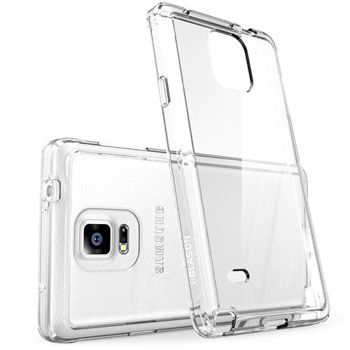 Galaxy Note 4 Case, i-Blason [Scratch Resistant] Halo Series Hybrid Clear Case / Cover with TPU Bumper for Samsung Galaxy Note
