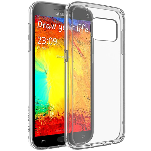 Galaxy S7 Case, LUVVITT [ClearView] Hybrid Scratch Resistant Back Cover with Shock Absorbing Bumper for Samsung Galaxy S7 - Cr