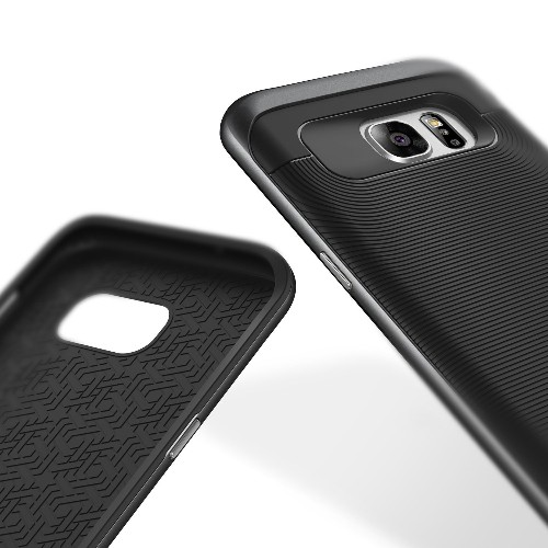 Galaxy S7 Edge Case, Caseology [Wavelength Series] Textured Pattern Grip Cover [Black] [Shock Proof] for Samsung Galaxy S7 E