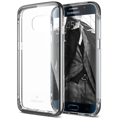 Galaxy S7 Case, Caseology [Skyfall Series] Transparent Clear Slim Protective Scratch Resistant Cover [Black] for Samsung Galax