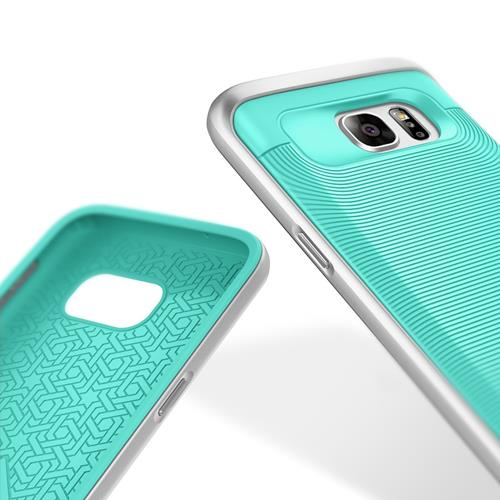 Galaxy S7 Case, Caseology [Wavelength Series] Textured Pattern Grip Cover [Turquoise Mint] [Shock Proof] for Samsung Galaxy