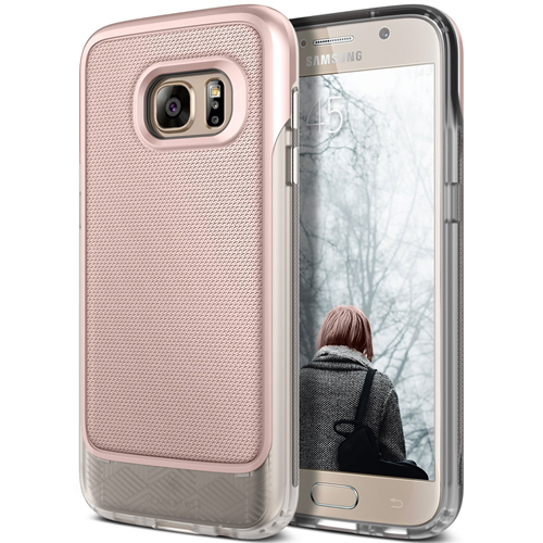 Galaxy S7 Case, Caseology [Vault Series] Rugged Slim Cover [Active Armor] for Samsung Galaxy S7 (2016) (Rose Gold / Frost Clea