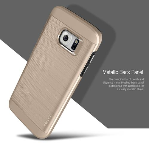Galaxy S7 Case, OBLIQ [Slim Meta][Champagne Gold] Slim Fit Premium Dual Layer Protection Case with Metallic Brush Finish Back