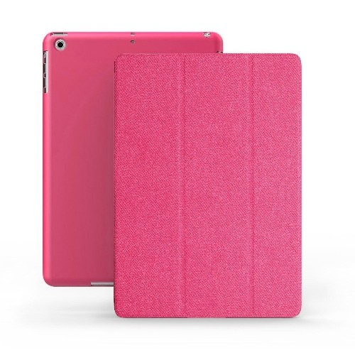 KHOMO iPad Mini Case - DUAL Series - ULTRA Slim Twill Pink Cover with Auto Sleep Wake Feature for Apple iPad Mini 1st, 2nd and
