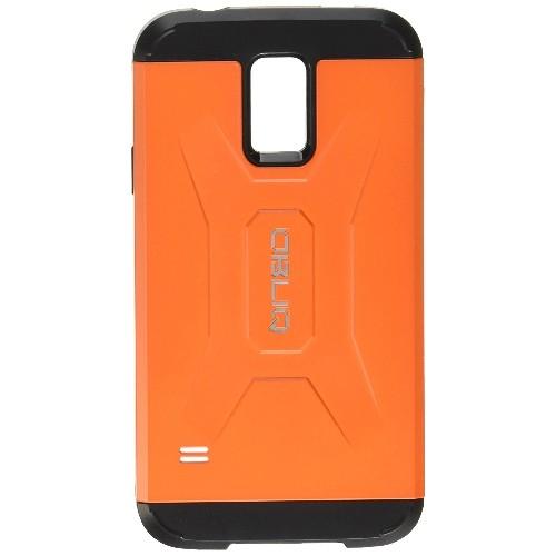 Galaxy S5 Case, OBLIQ [Xtreme Pro][Orange] + Screen Shield - Premium Slim Tough Thin Armor Fit Bumper Smooth Finish Dual Layer